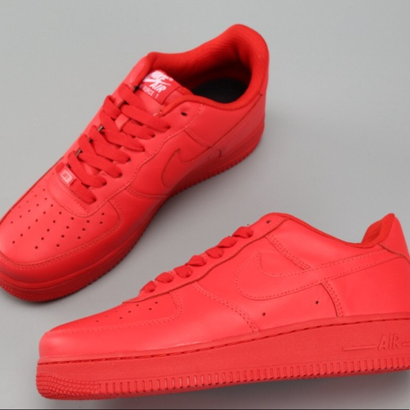 NikeID Custom Air force 1s (All red)